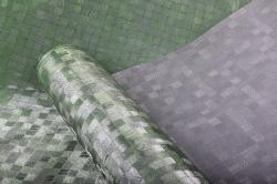 Упаковочная подарочная пленка 50cmx5m зеленое плетение