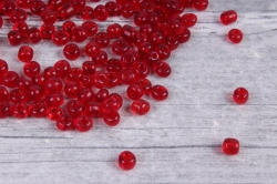 бисер декоративный  красный  (450гр)