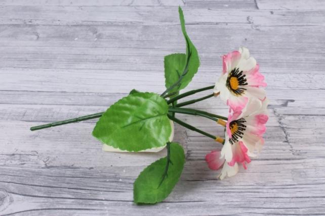 искусственное растение - анемоны бело-розовые