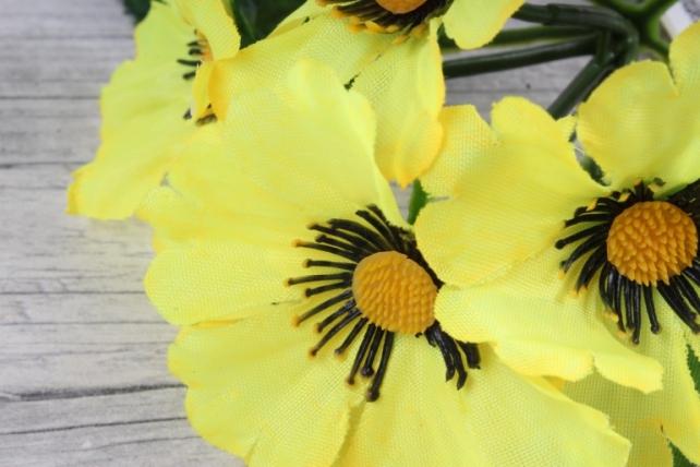 искусственное растение - анемоны  желтые