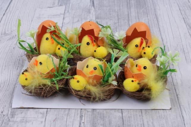 Пасхальный цыпленок в яйце Микс ( 6 шт в уп)