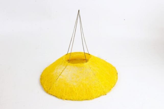 Каркас Конус гладкий сизаль 25см Жёлтый