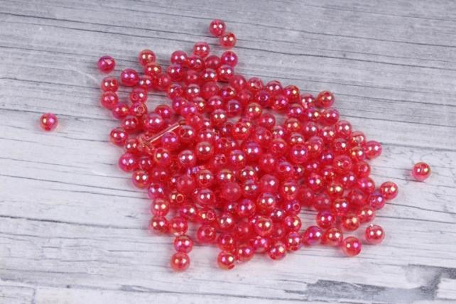 Бусины (А) перламутровые брусника  в пакете 100гр