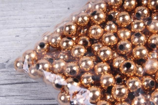 Бусины (А) металл бронза   в пакете 100гр