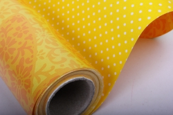 """Бумага на золотой основе """"Листья"""" (желтый) GOL-1103"""