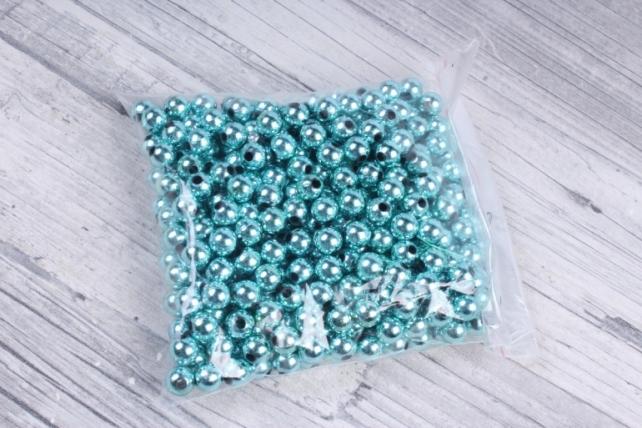 Бусины (А) металл бирюза   в пакете 100гр