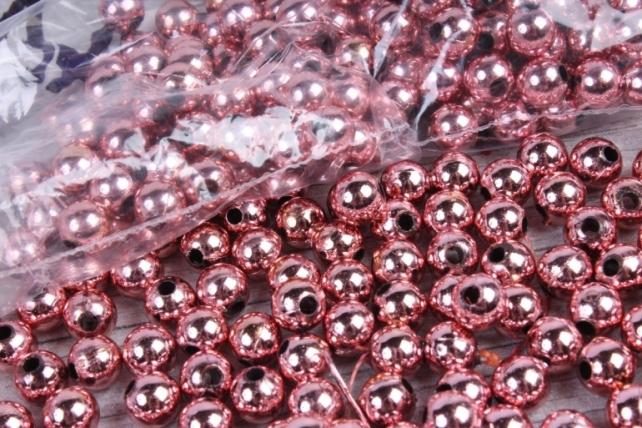 Бусины (А) металл коралл   в пакете 100гр