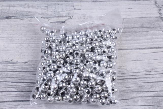Бусины (А) металл серебро   в пакете 100гр