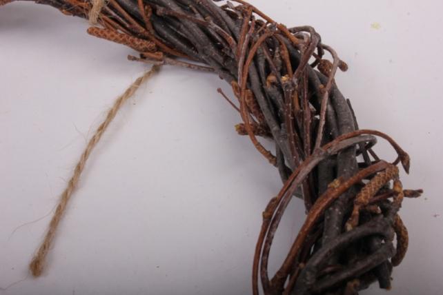 Венок плетеный из веток 20см