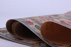 Бумага Падарочная КРАФТ (Новый Год) -  Магазин игрушек 0,7х1м (10 листов) - Код 203/112