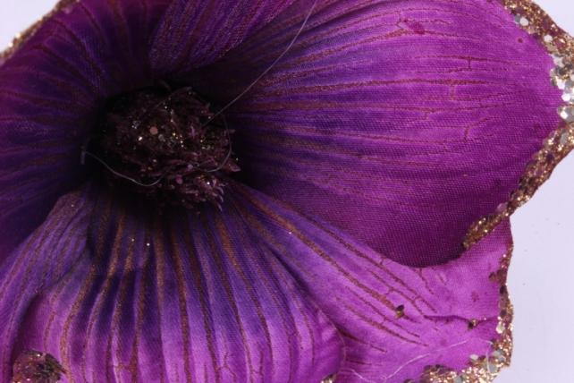 Магнолия ЦВЕТОК-бутон Фиолетовый с блестками (12шт в уп)  FME071722