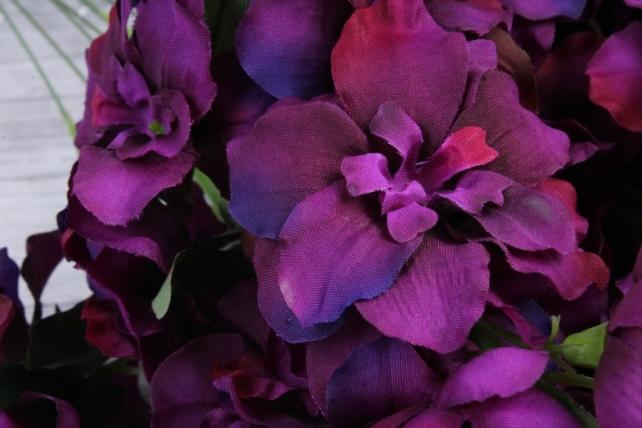 искусственное растение - дельфиниум бургундия  (12 шт в уп) sun476