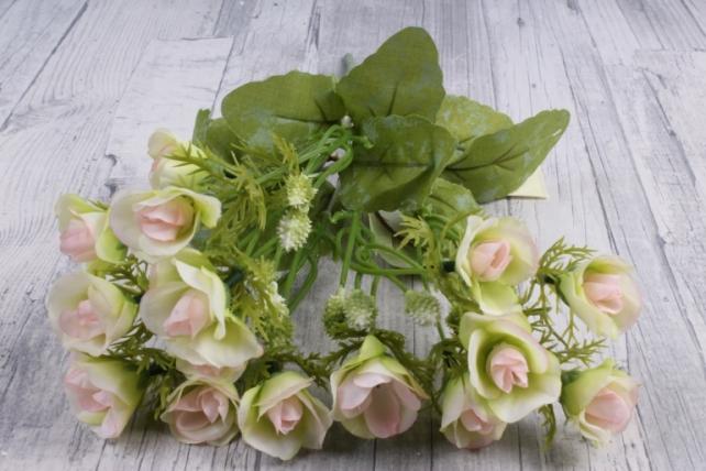 Искусственное растение - Роза ниспадающая бело-розовая