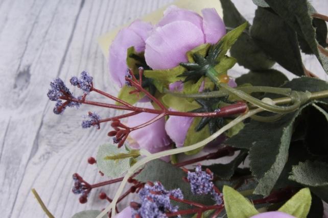 Искусственное растение - Ранункулюс Ретро сиреневый