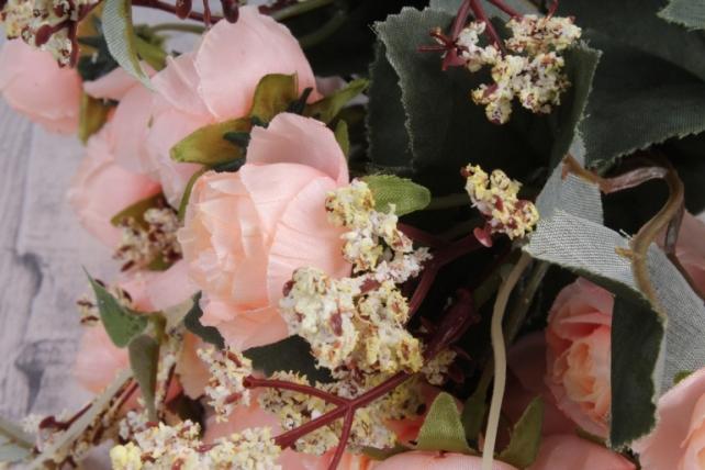 Искусственное растение - Ранункулюс Ретро персиковый