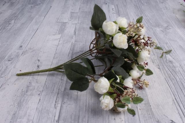Искусственное растение - Ранункулюс Ретро белый