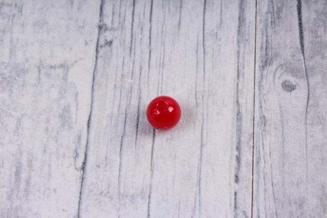 Бусины (С) перламутровые красные (8мм) в пакете 100гр
