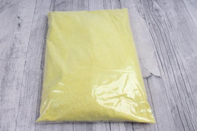блестки цветные 1 кг перламутр желтый
