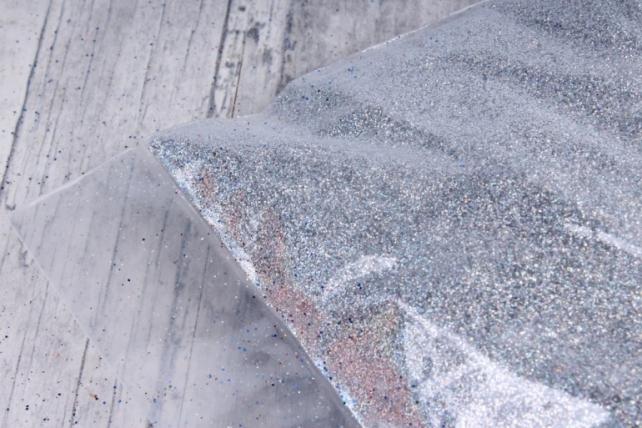 блестки цветные 1 кг  голография серебро