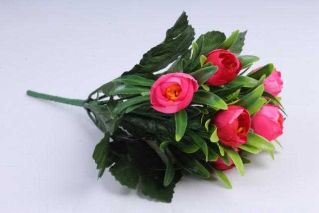 Искусственное растение - Ранункулюс пастель малиновый