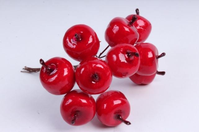 Яблоки красные 2,5 см (10 шт)