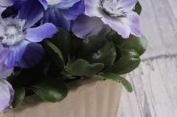 Цветочная композиция (И) - Цветы сиреневые в кашпо  HK-41469  1013