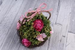 Цветочная композиция (И) - Цветы розово-малиновые в кашпо HK-8164  3013