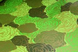 """Упаковочный Материал Двухсторонняя глянцевая бумага """"Розы"""", 50 см х 5м Зеленый"""