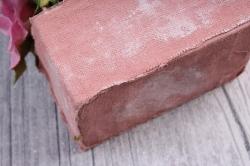 Цветочная композиция (И) - Цветы бело-розовые в кашпо  HK-8169  8018