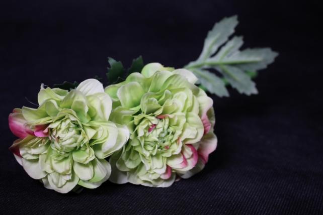 Искусственное растение - Георгина одиночная Салатовая 33 см SUN531
