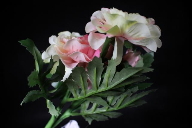 Искусственное растение - Георгина одиночная Розово-салатовая 33 см SUN531