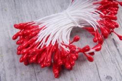 Тычинки фоам красные 3 мм (155 шт)