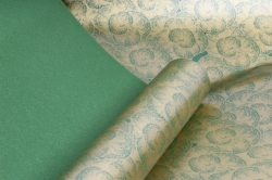 """Упаковочный Материал Двухсторонняя глянцевая бумага """"Гвоздики"""", 50 см х 5м Зеленый"""