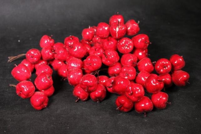 Яблоки красные 3см  (72шт в уп) TY15-8843
