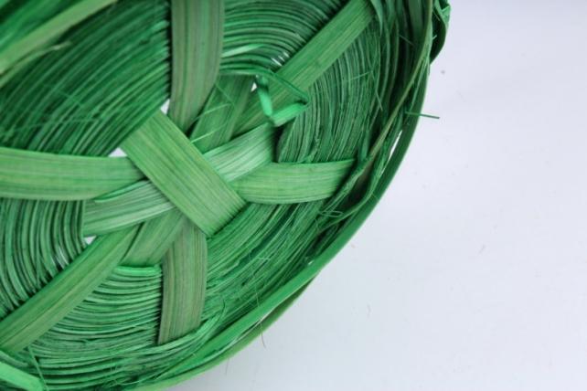 Корзина плетеная (бамбук), Круглая зеленая0596