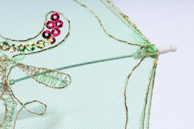 Зонт декоративный гипюр 30см Зелёный