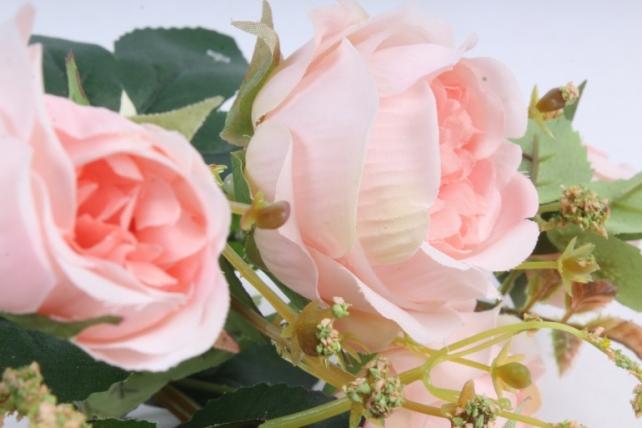Искусственное растение - Роза пионовидная персиковая