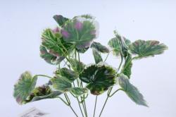Искусственное растение - Листья герани бело-зелёные