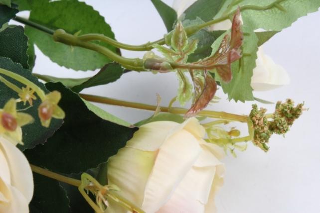 Искусственное растение - Роза пионовидная шампань