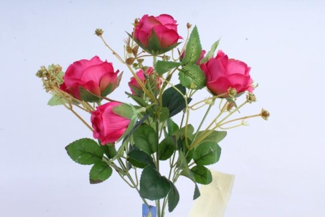 Искусственное растение - Роза пионовидная малиновая