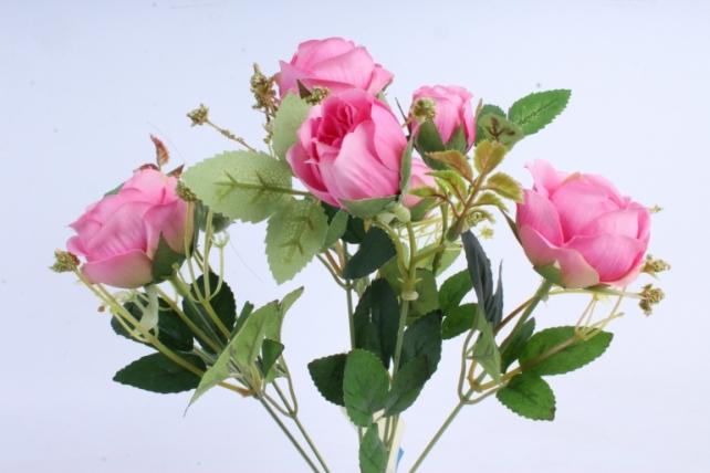 Искусственное растение - Роза пионовидная розовая