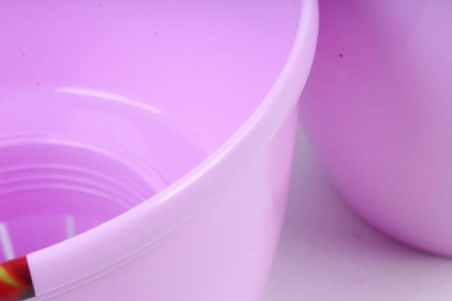 Цветочный (А) горшок Деко Твин (пластик),  2,5л, лавандовый  2271