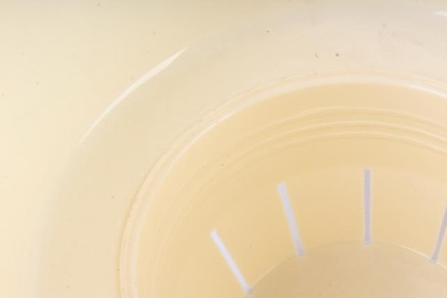 Цветочный (А) горшок Деко Твин (пластик),  2,5л, кремовый  2288