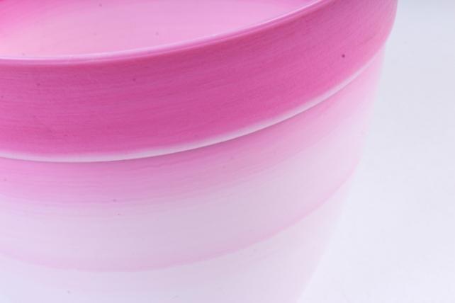 Кашпо (А) (пластик), 1,5л, розовый  4979