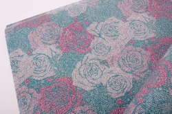 Бумага  ГЛЯНЕЦ 100/3421 Цветочный принт  0,7*1м (10 лист.)
