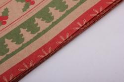 Бумага  КРАФТ 100/Х125  Нов. Год. Рождественские ряды  0,7*1м (10 лист.)