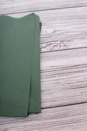 Бумага  тишью (Ч) темно-зеленая  50*66см (10 листов в уп)