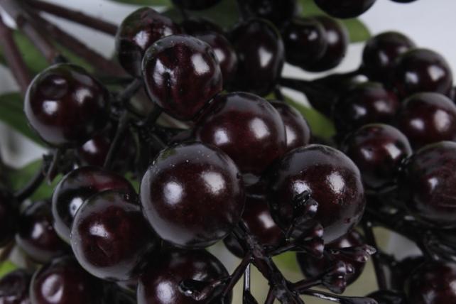 Искусственное растение -  Ветка гонконгской вишни шоколадная  В9798
