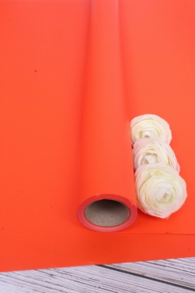 "Матовая пленка ""Фаворит"" однотонная, 50 мкр, 50 см х 10 м, ярко-оранжевый 5735М"