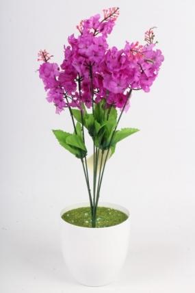 Искусственное растение - Сирень городская сиреневая Н=44 см Б4848